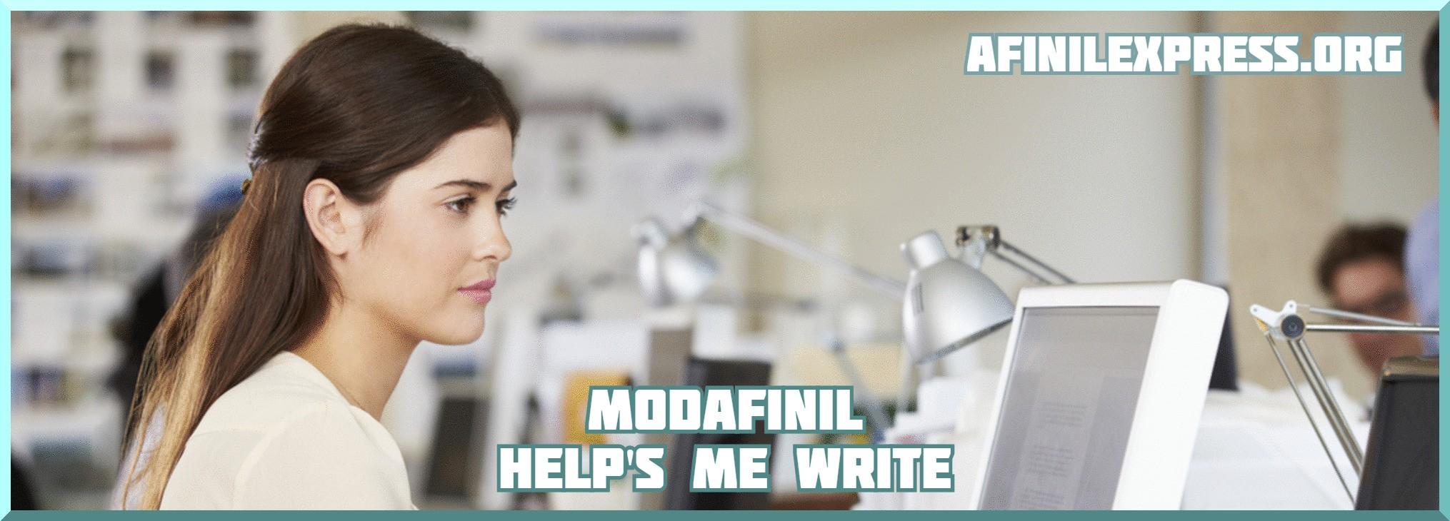 Modafinil help's me write