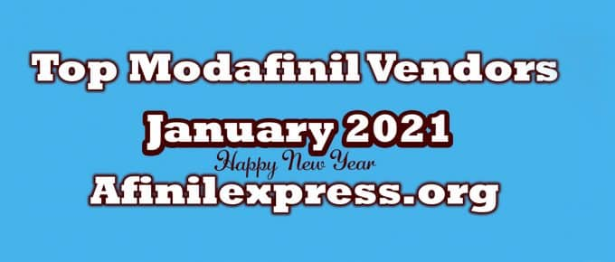 January 2021 Top Three Modafinil Vendors