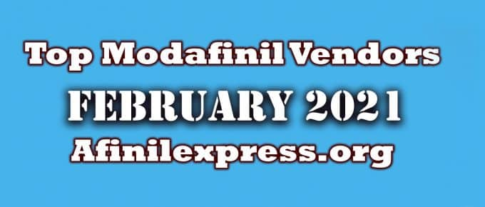 Top 3 Modafinil Vendors February 2021