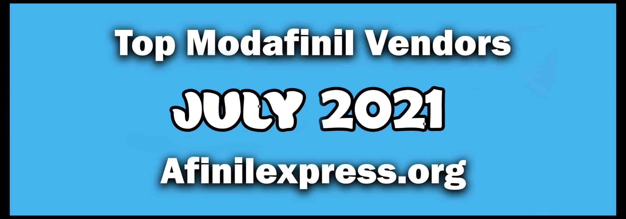 Top 3 Modafinil Vendors July2021